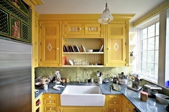 Best Kitchen Color Ever? Mustard Yellow