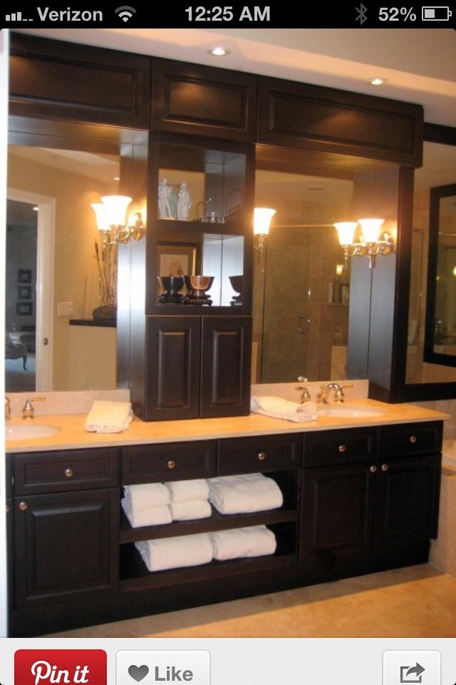 bathroom countertop storage Bathroom Pinterest Master bath