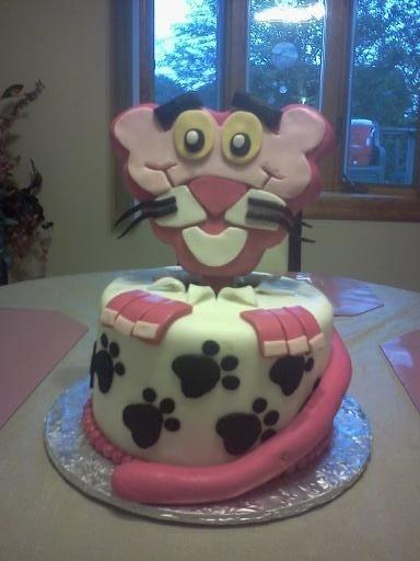 Pink Panther! ice cream cake