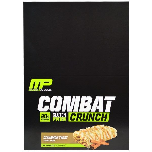 sports-fitness-athletic: Muscle Pharm, Combat Crunch, Cinnamon Twist, 12 Ba...