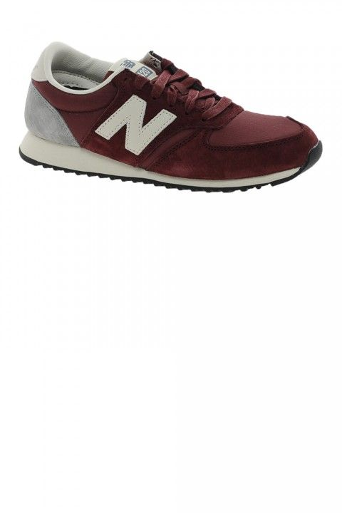 New Balance 420 Burgundy Suede Trainers