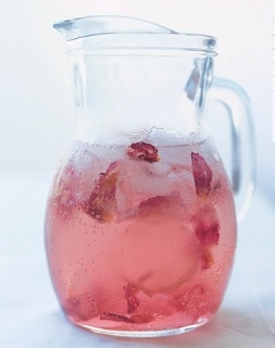 Rose Petal Sparkling Water! Refreshing and looks great. See our Season Magazine at Brookside.com.au from Wed 29 for the recipe