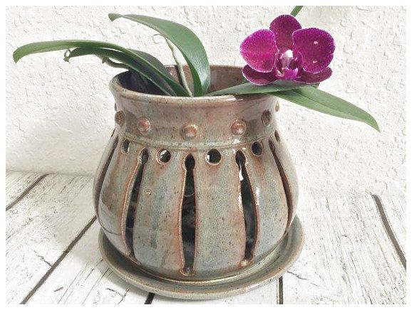 Different Designs For Your Floor Using Ceramics Clay Orchid Pots Orchid Pot Orchid Planters