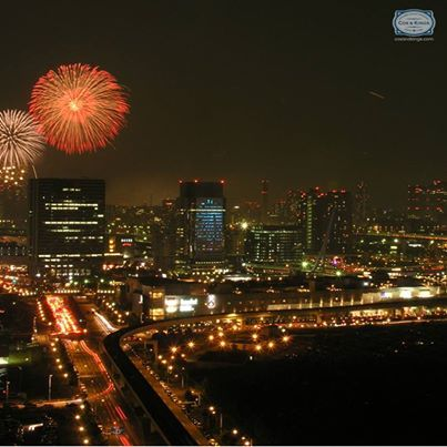The first firecrackers burst on the glittering streets of #Tokyo, #Japan! Happy New Year or Akemashite omedetōgozaimasu as they say in Japanese