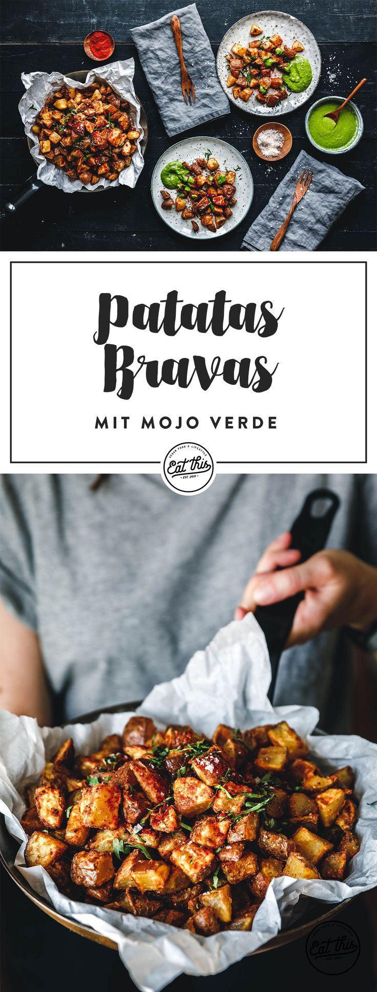 Patatas Bravas mit Mojo Verde · Eat this! Foodblog • Vegane Rezepte • Stories