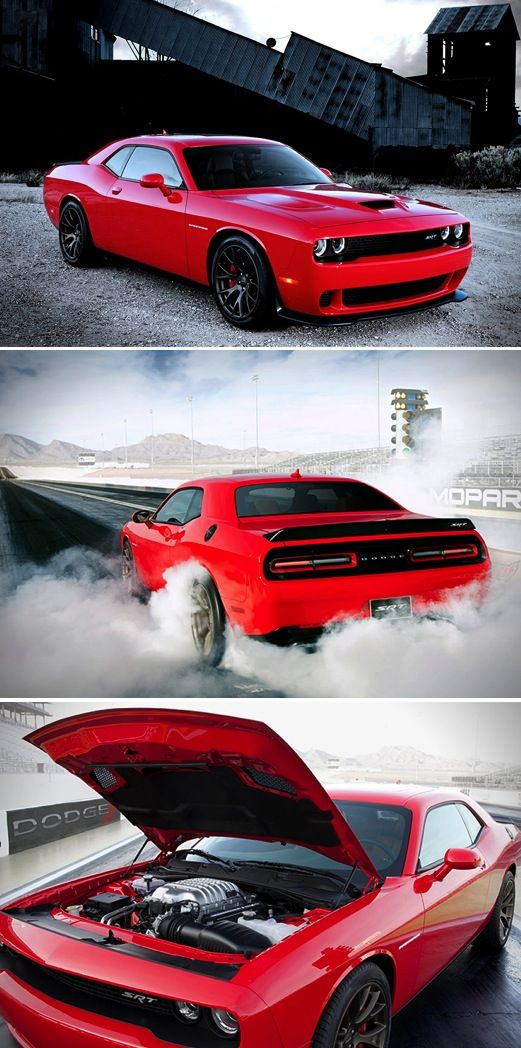 2015 Dodge Challenger SRT Hellcat yup!! Dream car! It's goin down! But in black! Mmmmmmean cuz!!!