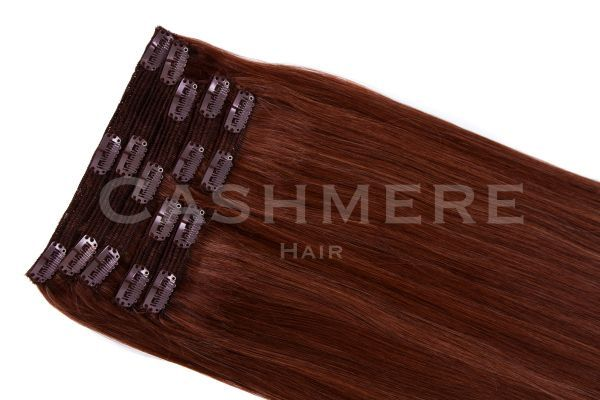roxbury red Cashmere Hair Clip In Extensions
