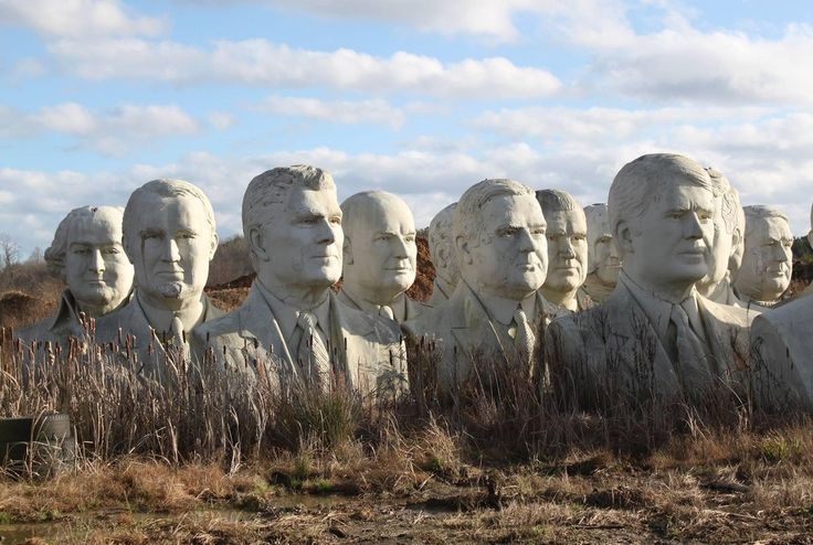 43 Giant, Crumbling Presidential Heads - 8212 Croaker Rd Williamsburg, Virginia