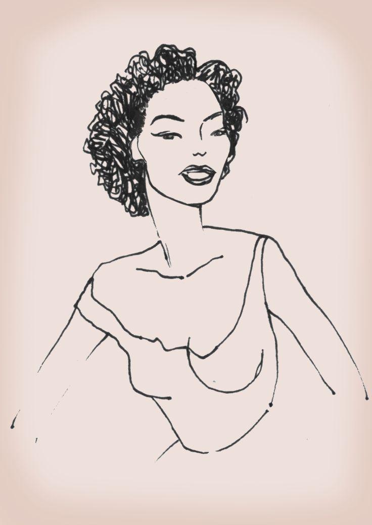 'Late Fifties' sketch by Giulia Benaglia