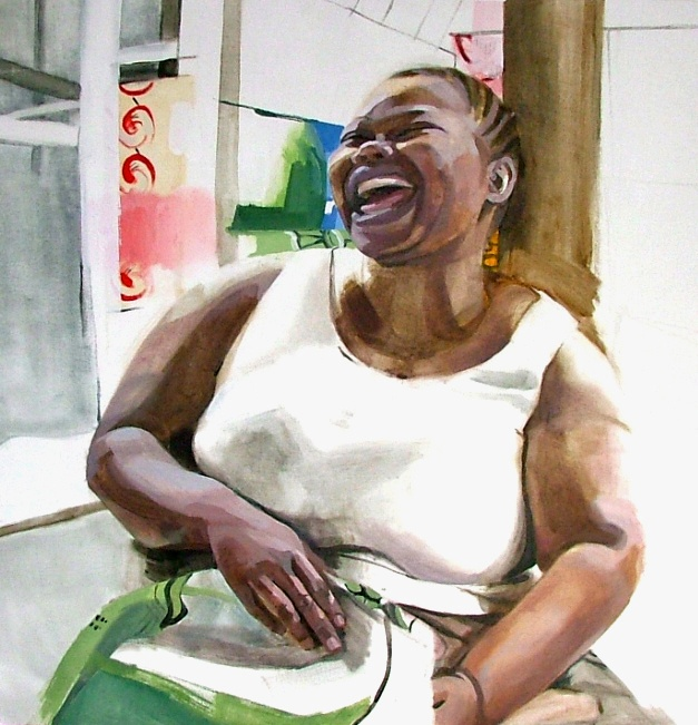 Congo Series, Larissa Doll, Laughing Mama, Oil on Canvas, 79cm x 80cm, 2006