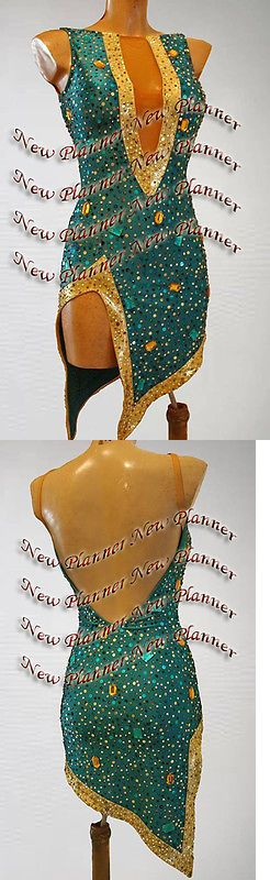 Ballroom 152361: L1116 Ballroom Latin Rhythm Salsa Rumba Samba Dance Dress Us 6 Green Sexy -> BUY IT NOW ONLY: $299.99 on eBay!