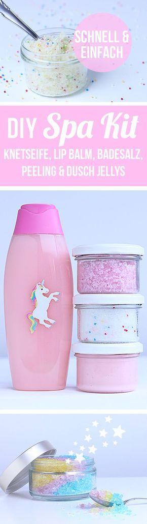 DIY Muttertag Geschenkideen - Spa Kit selbstgemacht - Muttertagsgeschenk basteln - Muttertagsgeschenke selber machen - Einhorn Wellness