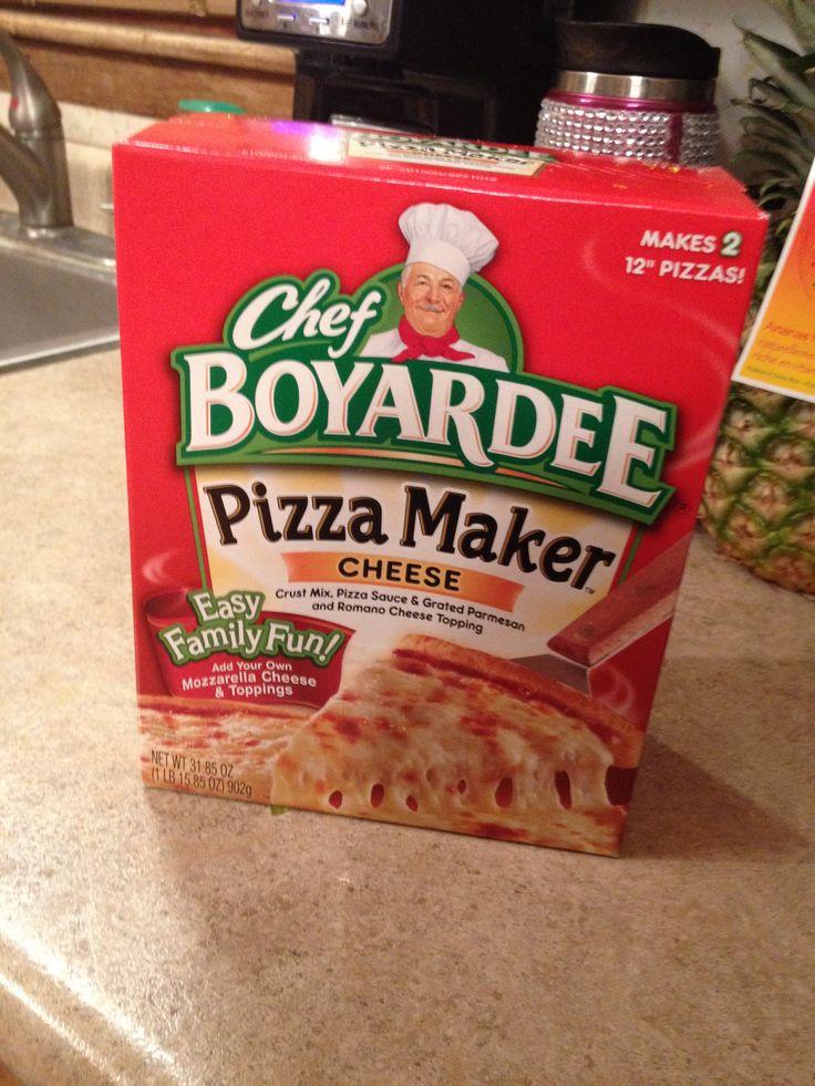 Chef boyardee pizza maker.