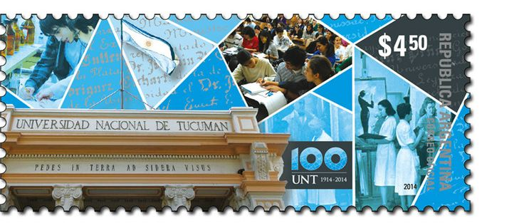 Correo Argentino Sello Argentina Post Stamp National University of Tucumán