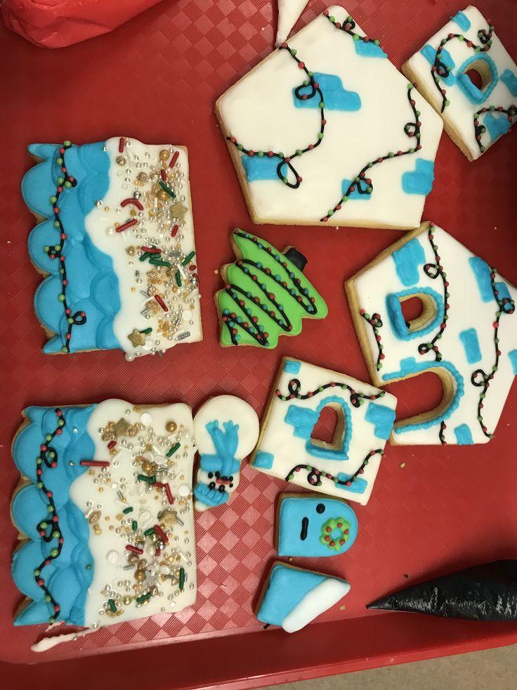 Gingerbread house diy cookie kit royal icing sugar cookies