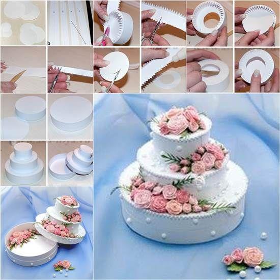How to DIY Beautiful 3 Tier Cake Shaped Gift Box | iCreativeIdeas.com Like Us on Facebook ==> https://www.facebook.com/icreativeideas