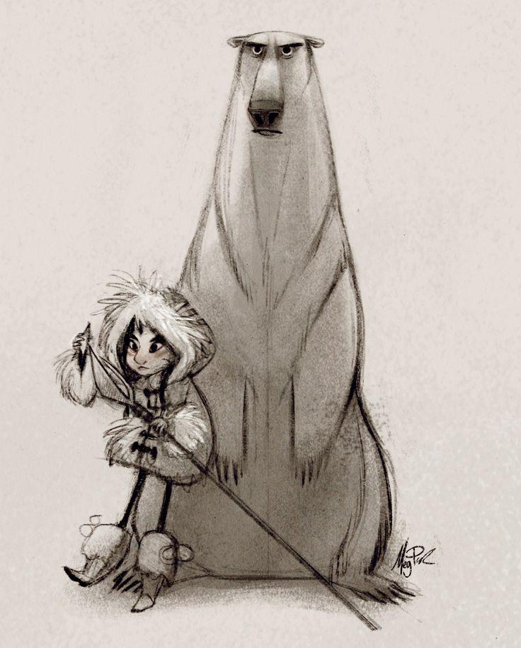 an eskimo and a grumpy bear by Meg Park ^_^