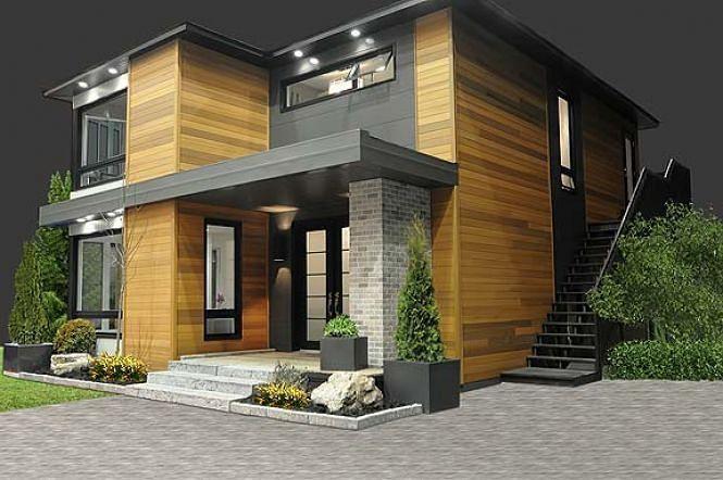 Plan de maison contemporain abordable (no 3713)