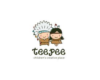 Teepee logo - cute!