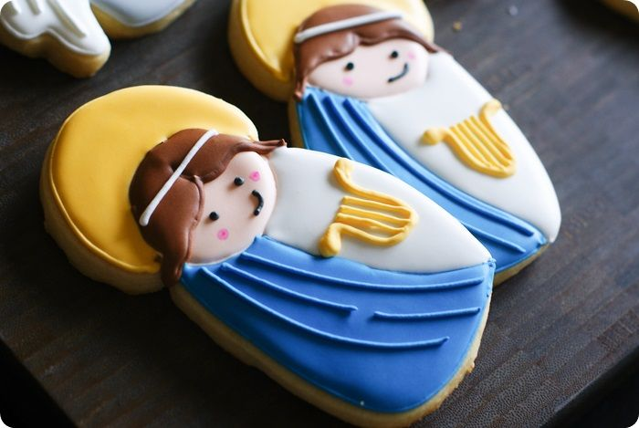 st cecilia cookie decorating tutorial, patron saint of music