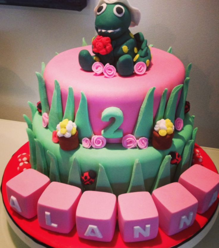 Dorothy Dinosaur cake topper by Sweet Toppers  http://cgi.ebay.com.au/ws/eBayISAPI.dll?ViewItem&item=111350086917&ssPageName=STRK:MESE:IT  https://www.facebook.com/SweetToppers?ref=hl