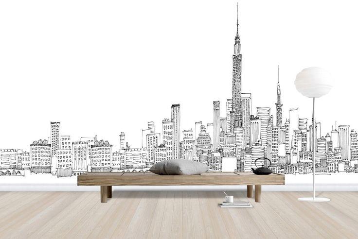 avery tillmon new york skyline fototapeten tapeten. Black Bedroom Furniture Sets. Home Design Ideas