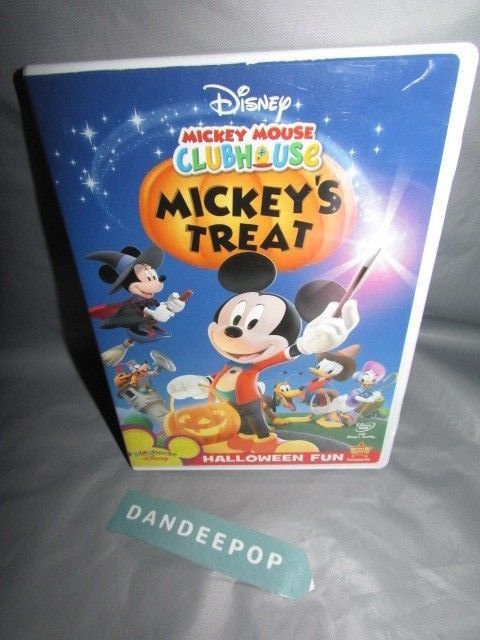 Mickey Mouse Clubhouse - Mickeys Treat (DVD, 2007) Halloween Fun Movie #disney #mickeymouse #mickeystreat #clubhouse #mickeymouseclubhouse #halloween #halloweenfun #movie #dvd #dandeepop Find me at dandeepop.com