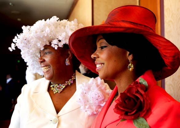 White floral, Big red: Church Hats The, Church Hats Beautiful, Church Hats A, Stylish, Sunday, Ladies Hats, Easter Hats, Church Hats I, Church Derby Hats