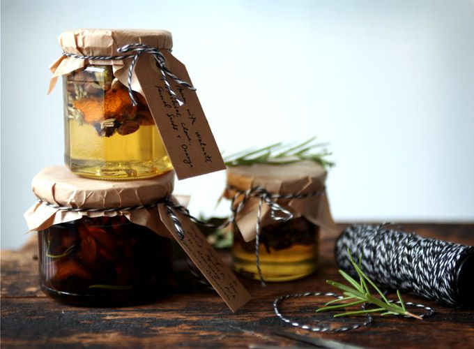 Infused Syrup Gift Jars from My New Roots.