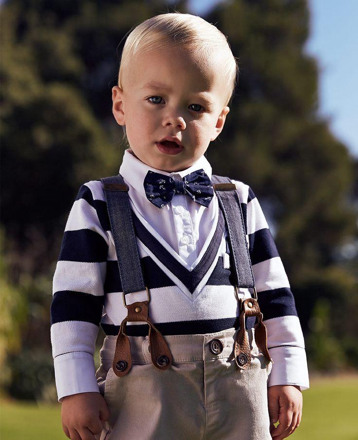 Baby Boy's L/S Varisty Polo - PRE ORDER - Bardot Junior