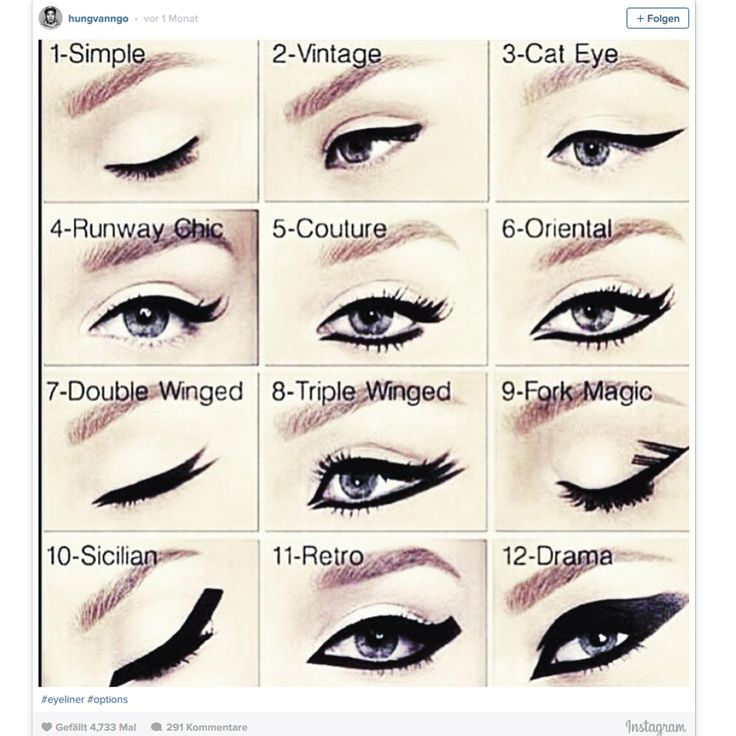 die besten 25 cat eye lidstrich anleitung ideen auf pinterest eyeliner tutorial fl gel. Black Bedroom Furniture Sets. Home Design Ideas