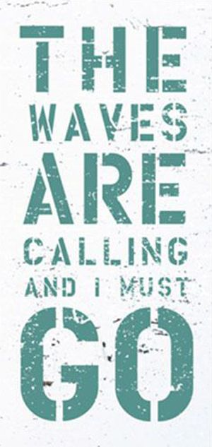 The Waves Are Calling And I Must GO!