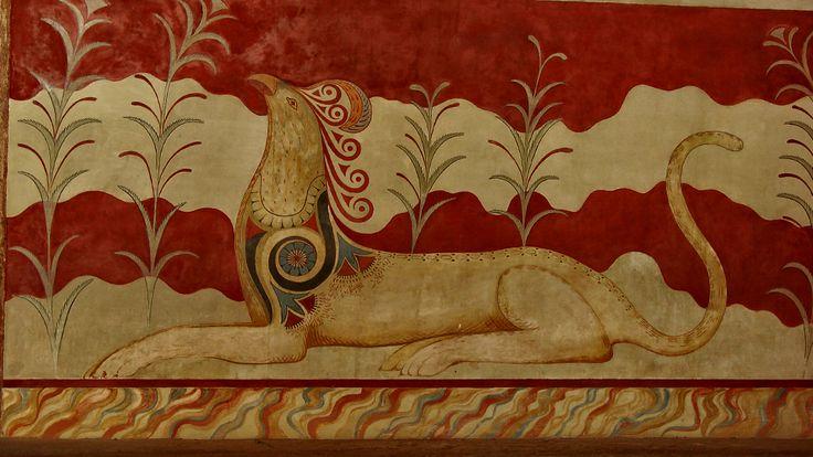 Knossos | Heraklion, Crete. MIKÄ tämä on? Lintu vai kala/leijona?
