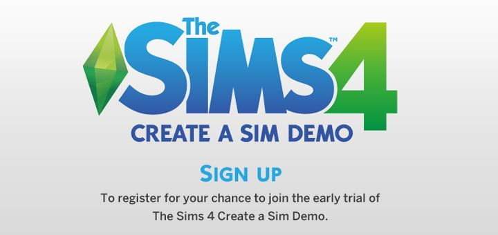 Sign up for The Sims 4 Create A Sim Demo!