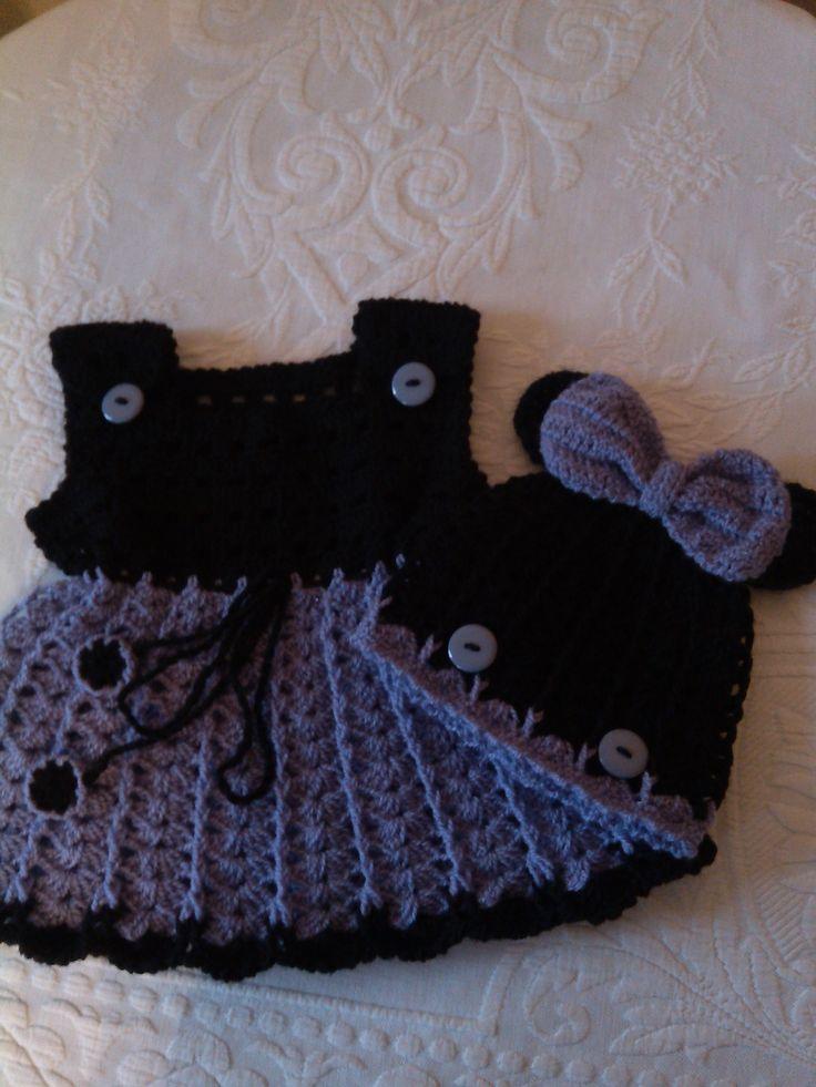 Dětská móda | Šaty černo - fialové myšičky | Móda a design - Bali Art
