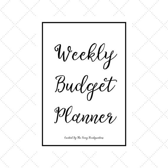 This printable budget looks realiy nice! Weekly Budget Planner - Budget Diary - Weekly Finance Planner - Weekly Budget Printable - Weekly Bill Planner - Quarterly Budget Planner #ad #afflink #budget