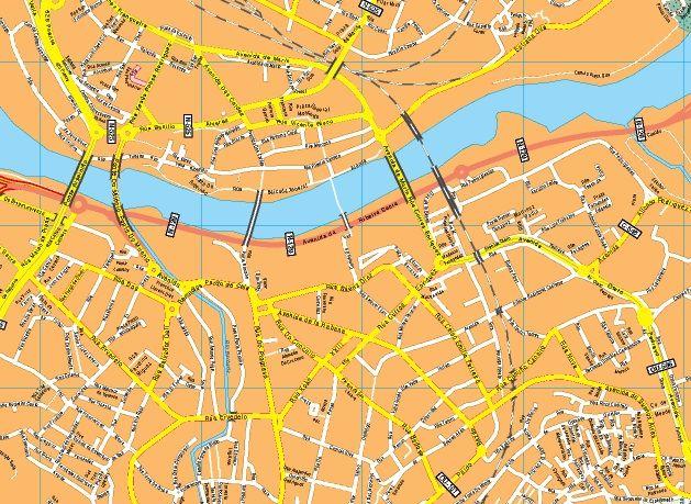Mapas callejero ourense Ourense Calles