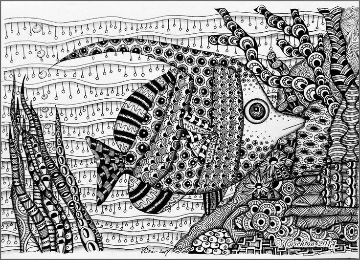 "Zentangle ""Fish""."