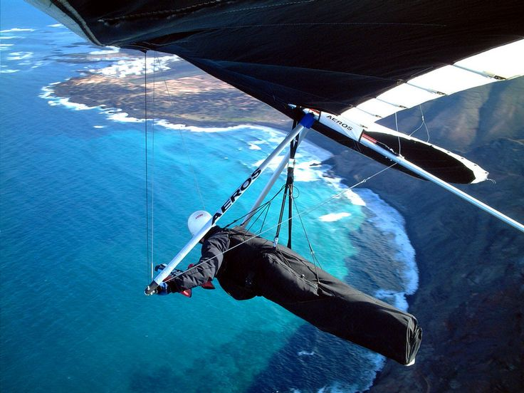 hang gliding would be amazing