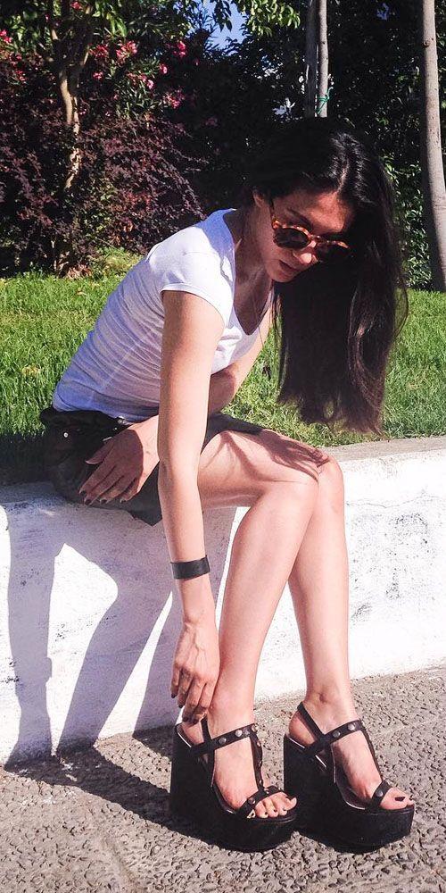 Ελένη Βαϊτσου-Eleni Vaitsou wearing #MIGATO DF1751 wedges! SHOP NOW your favorite wedges ► migato.com/en/woman/shoes/platforms/ #wedges #actress #celebrity #summer