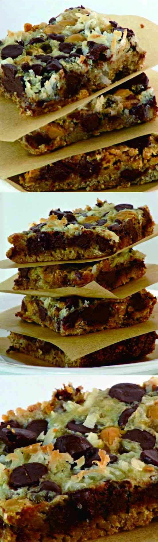 Magic Bars, 7 Layer Bars, Hello Dolly Bars - cake, chocolate, coconut, cookie, cracker, dessert, recipes