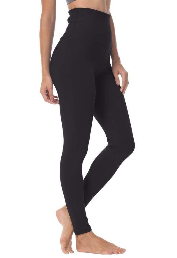 c37a2d92fbe7a Queenie Ke Women Yoga Legging Power Flex High Waist Running Pants Workout  Tights Black