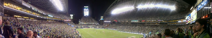 Panoramic view of CenturyLink Field during #SoundersFC 3-0 win over Portland 10-7-2012