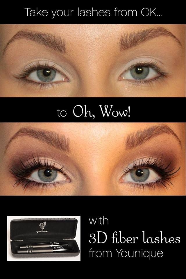 younique 3d fiber lash mascara no messy glue or falsies. Black Bedroom Furniture Sets. Home Design Ideas