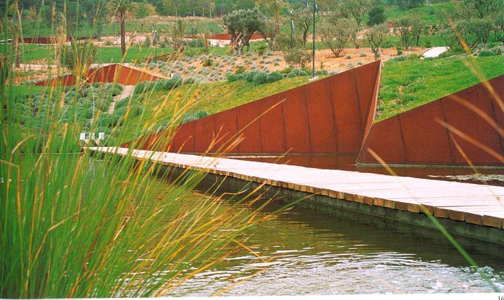 Beverly Pepper, Land Artist Cor-ten steel walls