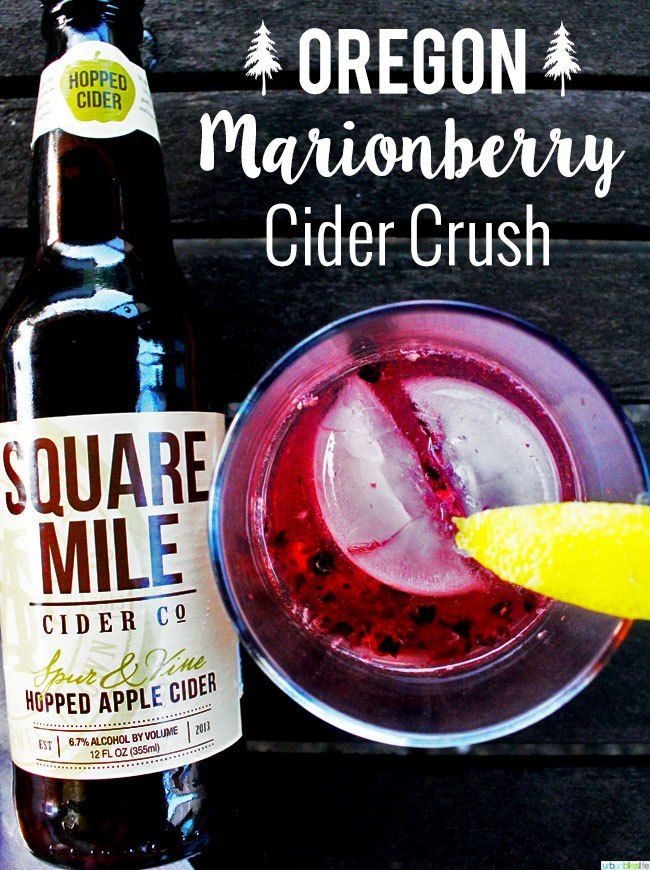 Oregon Marionberry Cider Crush - Marionberries, Hard Cider (hopped if available), Vodka, Lemonade