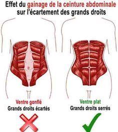 le gainage de la ceinture abdominale reserre les grands droits de l'abdomen  Lire la suite ici :http://www.sport-nutrition2015.blogspot.com