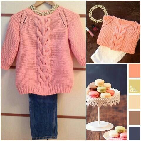 The result is a very versatile and juicy sweater * -)))) It's time to update your wardrobe !!! P.S. All questions in a personal
