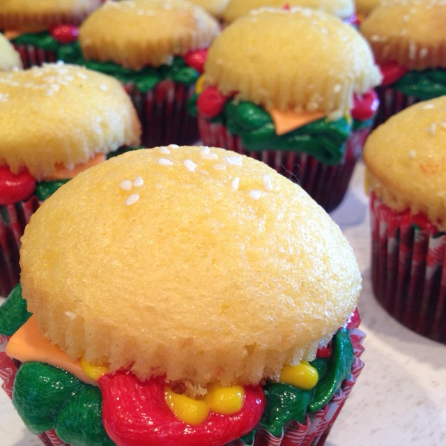Cheeseburger cupcakes!! I think this is one of my favorites I have found on Pinterest.