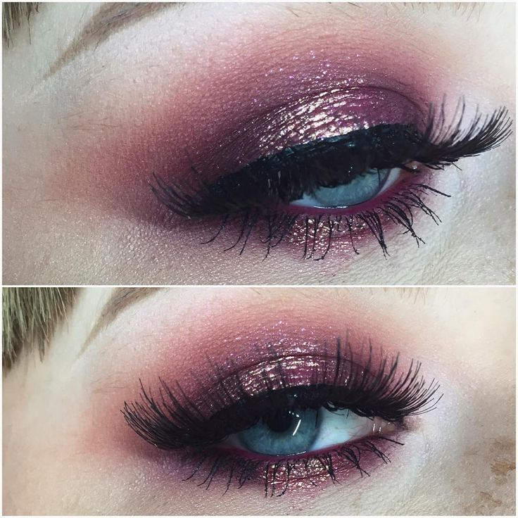 Eye shadow: in crease is makeup geek cosmetics peach smoothie and bitten, Lid is colour pop cosmetics cricket with bitten on top. Center of lid is mac rose pigment and reflects pink glitter on top.